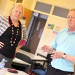 Danny and Sue during the e-Learning Essentials workshop at Northumberland College